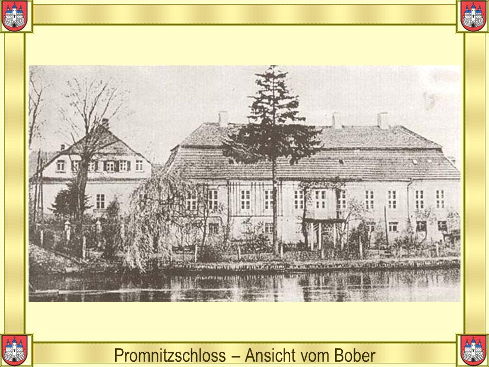Promnitzschloss – Ansicht vom Bober
