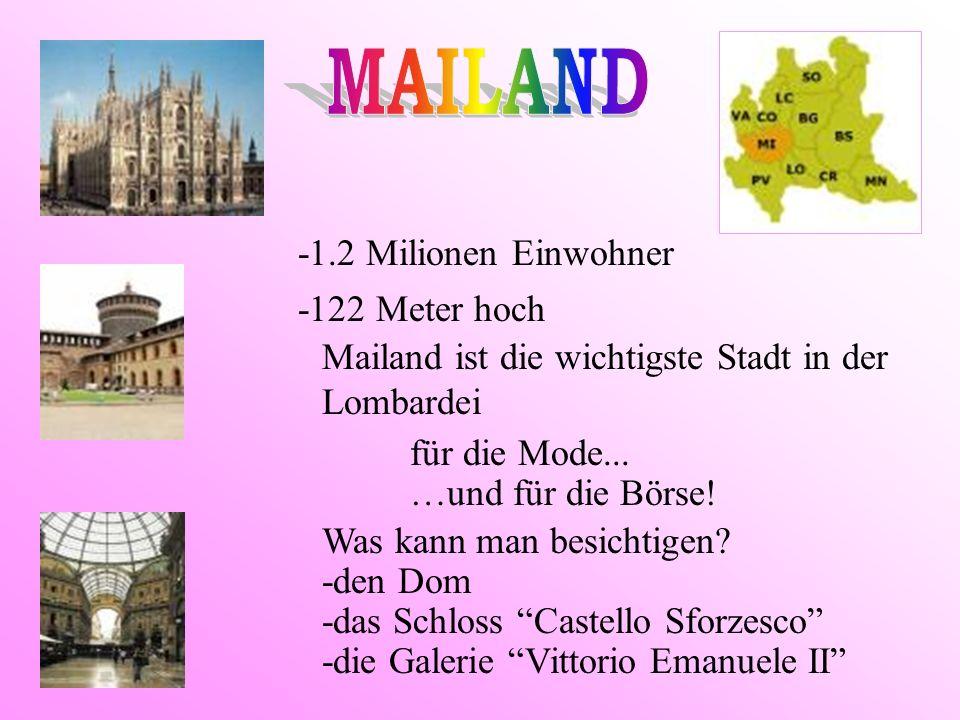 MAILAND -1.2 Milionen Einwohner -122 Meter hoch