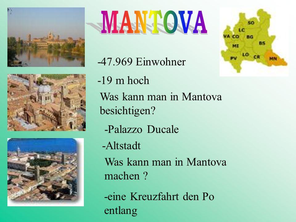 MANTOVA -47.969 Einwohner -19 m hoch