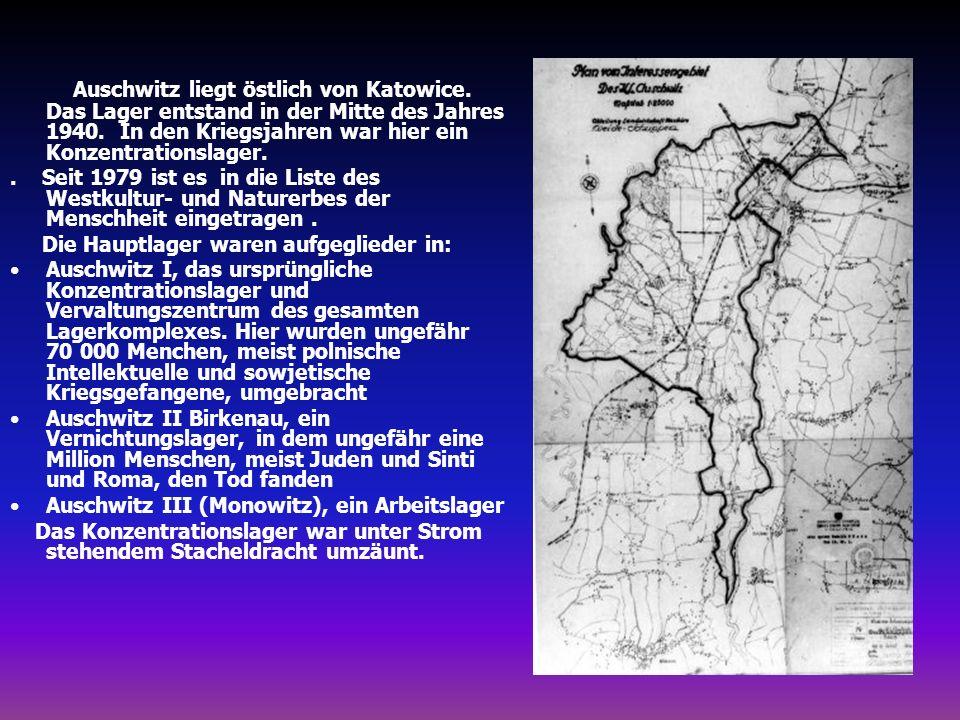 Auschwitz liegt östlich von Katowice