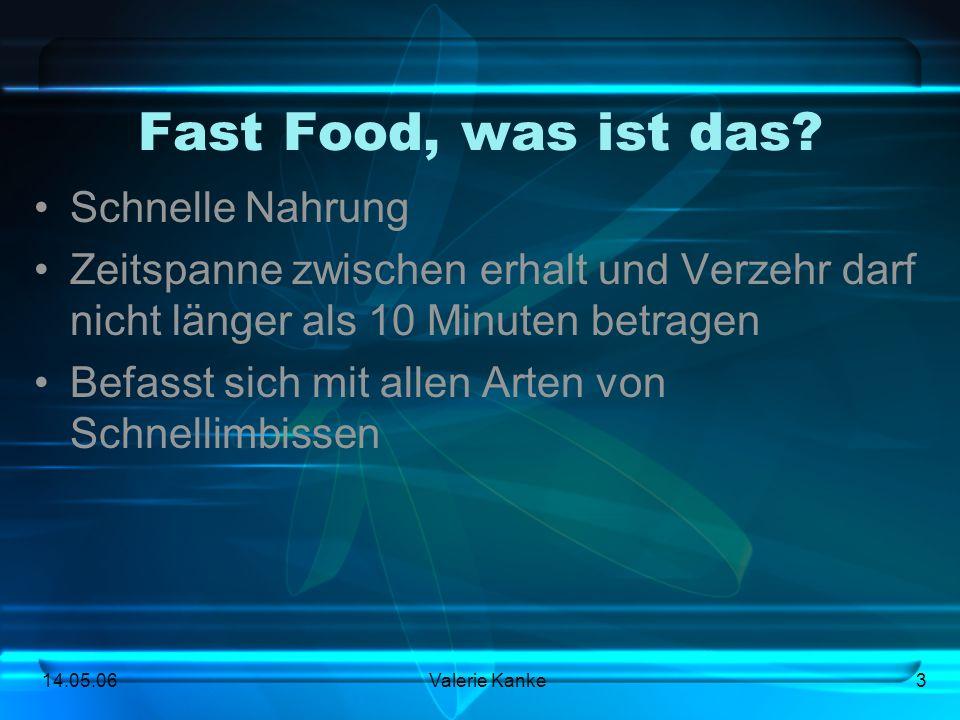 Fast Food, was ist das Schnelle Nahrung