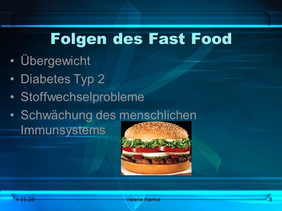Folgen des Fast Food Übergewicht Diabetes Typ 2 Stoffwechselprobleme