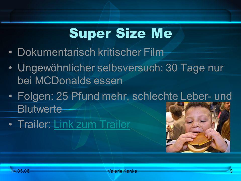 Super Size Me Dokumentarisch kritischer Film