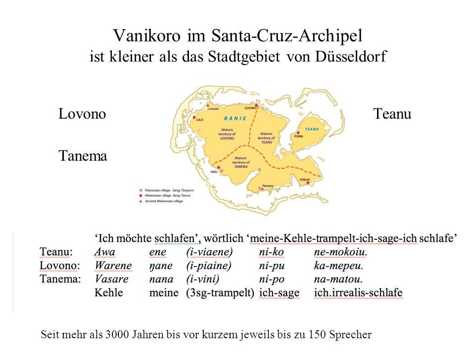 Vanikoro im Santa-Cruz-Archipel ist kleiner als das Stadtgebiet von Düsseldorf