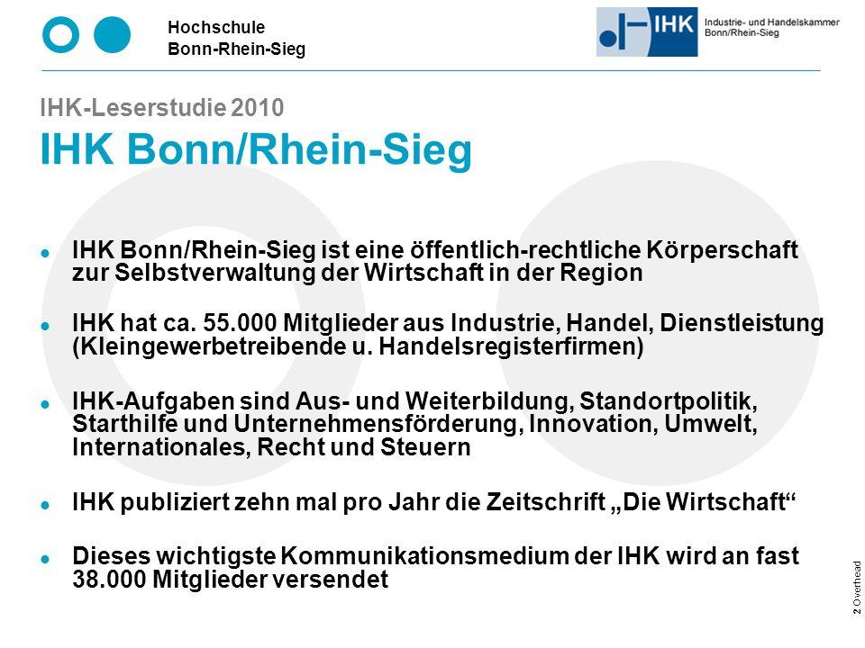 IHK-Leserstudie 2010 IHK Bonn/Rhein-Sieg
