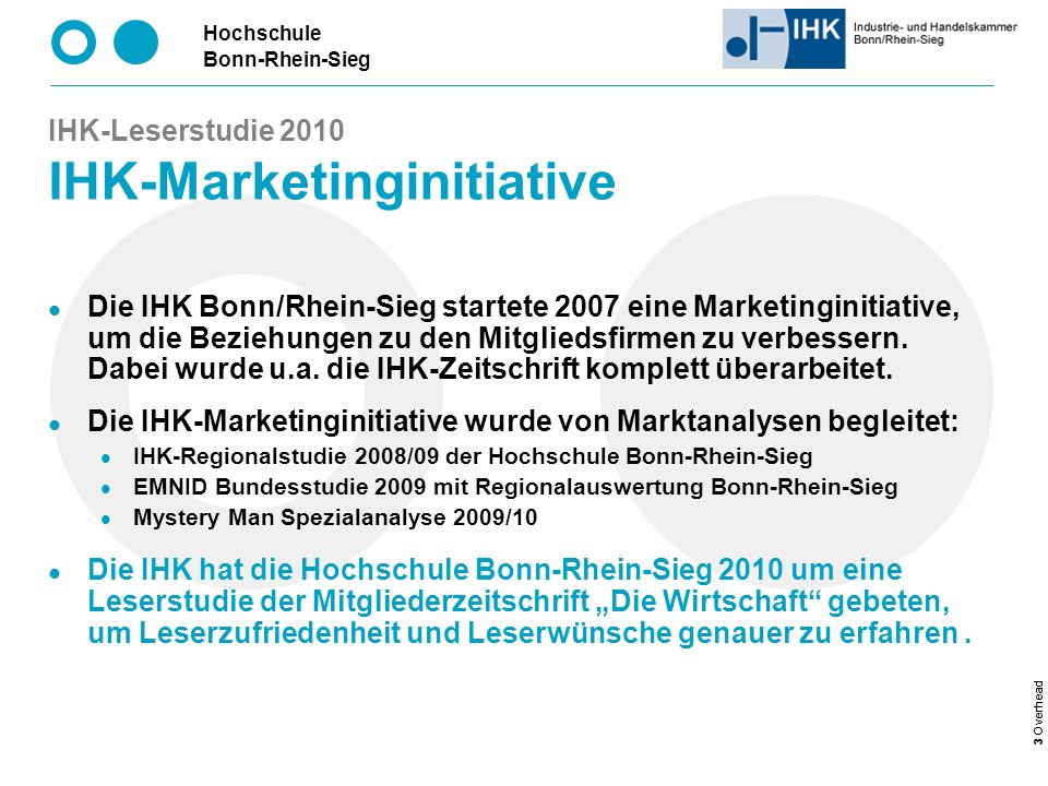 IHK-Leserstudie 2010 IHK-Marketinginitiative