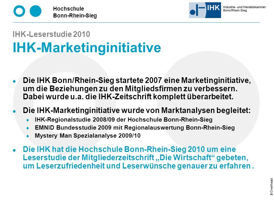 IHK-Leserstudie 2010 IHK-Marketinginitiative