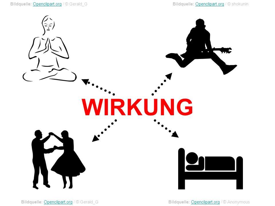 WIRKUNG Bildquelle: Openclipart.org / © Gerald_G