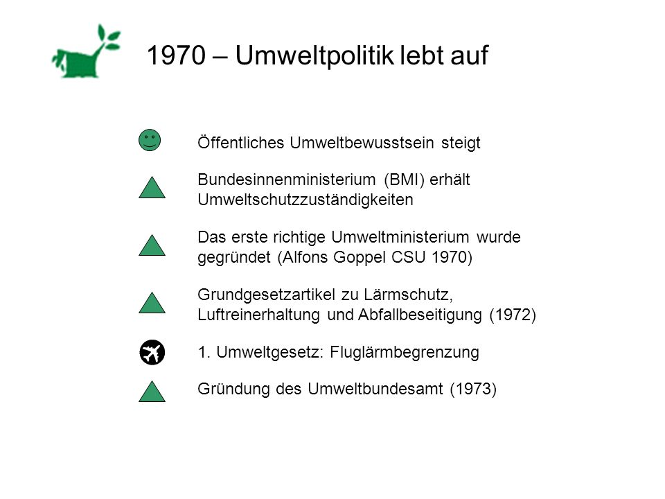 1970 – Umweltpolitik lebt auf