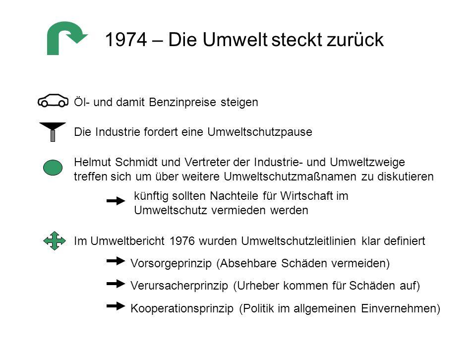 1974 – Die Umwelt steckt zurück