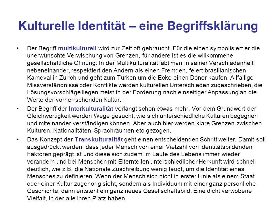 Kulturelle Identität – eine Begriffsklärung