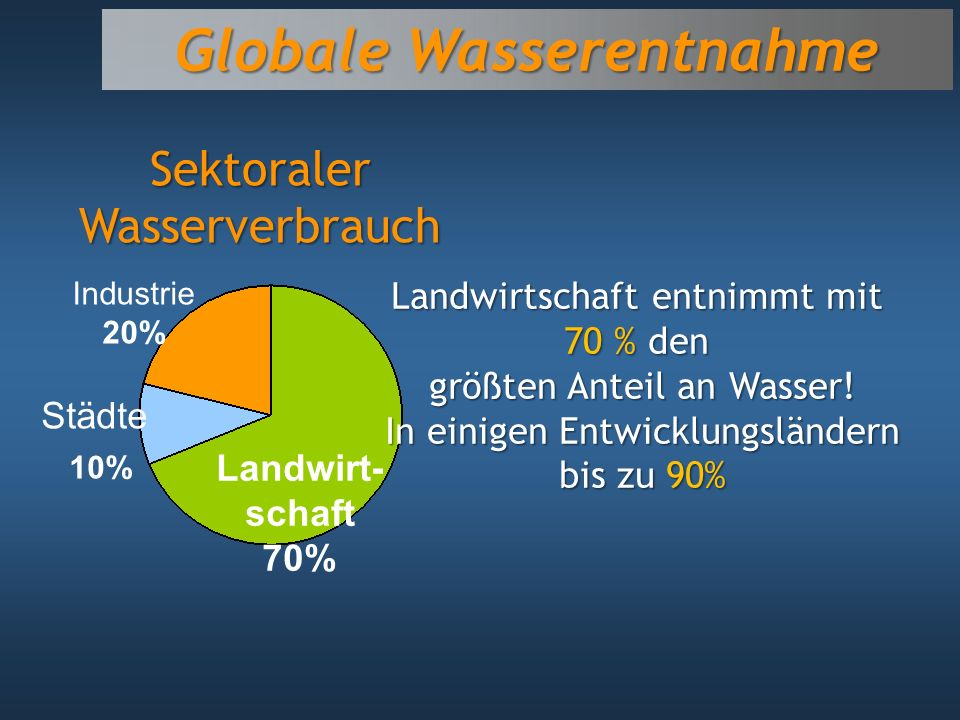 Globale Wasserentnahme