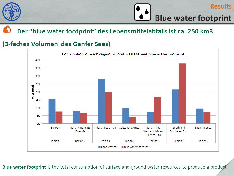 Blue water footprint Results