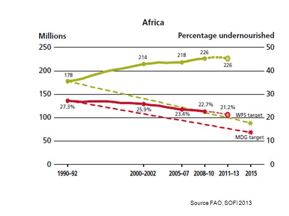 Source FAO, SOFI 2013