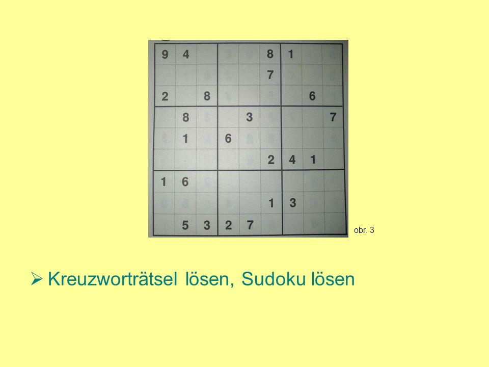 Kreuzworträtsel lösen, Sudoku lösen