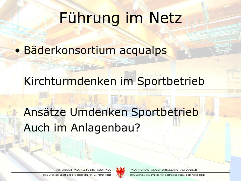 Führung im Netz Bäderkonsortium acqualps