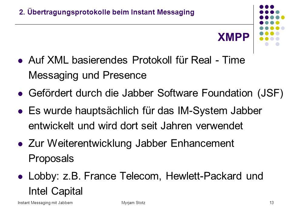 2. Übertragungsprotokolle beim Instant Messaging