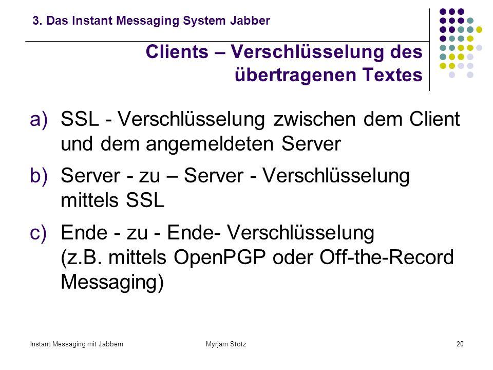 Clients – Verschlüsselung des übertragenen Textes