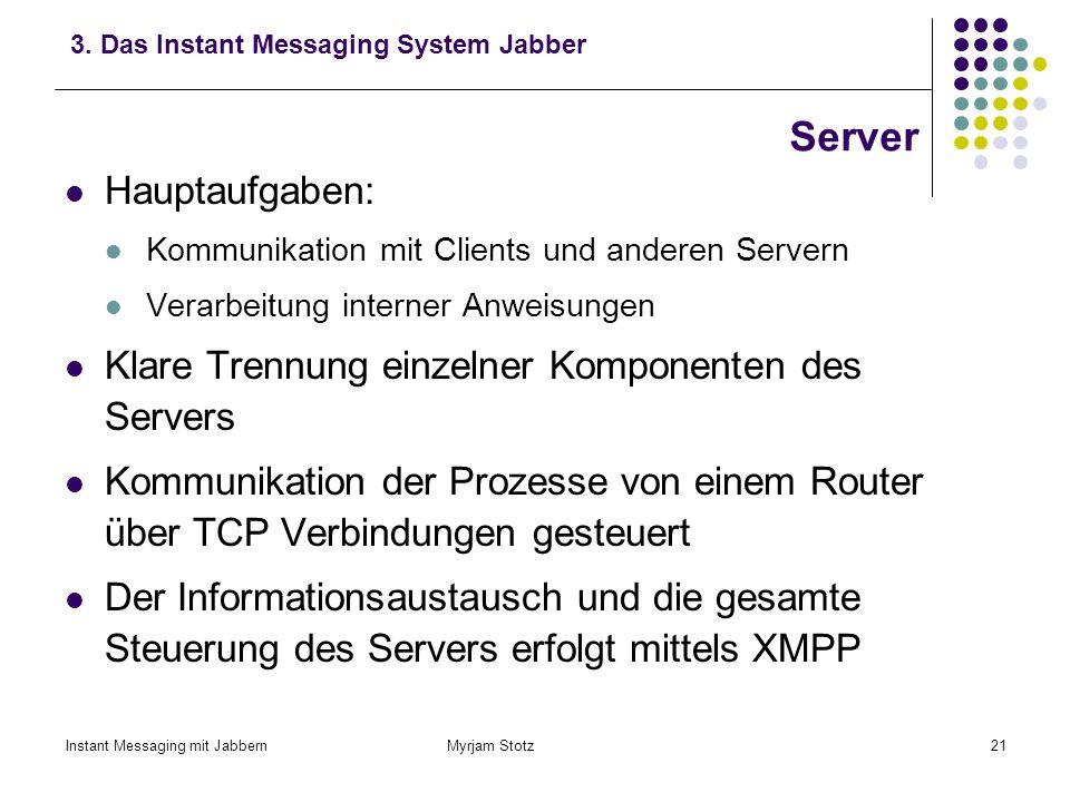 Server Hauptaufgaben: Klare Trennung einzelner Komponenten des Servers