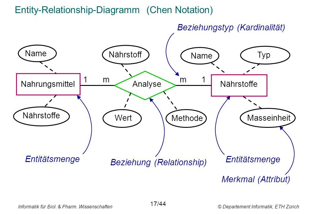Entity-Relationship-Diagramm (Chen Notation)