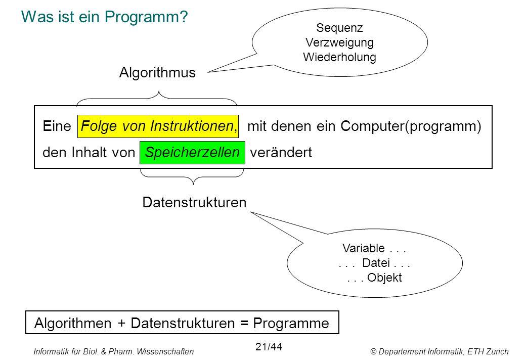 Was ist ein Programm Algorithmus