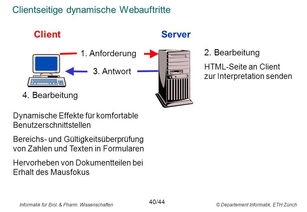 Clientseitige dynamische Webauftritte