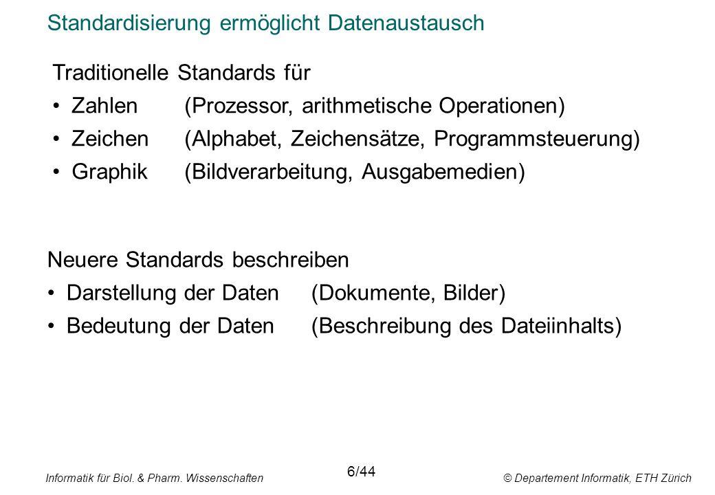 Standardisierung ermöglicht Datenaustausch