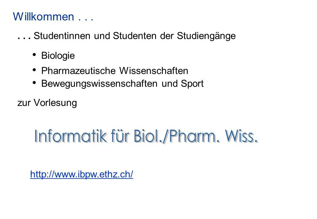 Informatik für Biol./Pharm. Wiss.