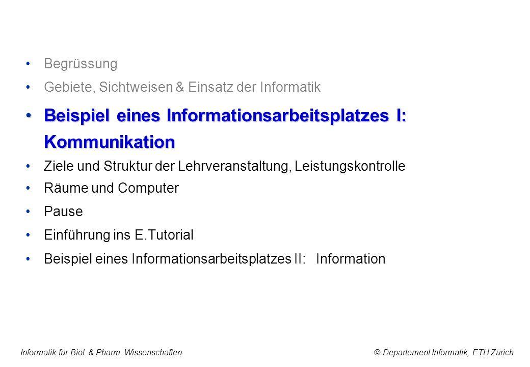 Beispiel eines Informationsarbeitsplatzes I: Kommunikation