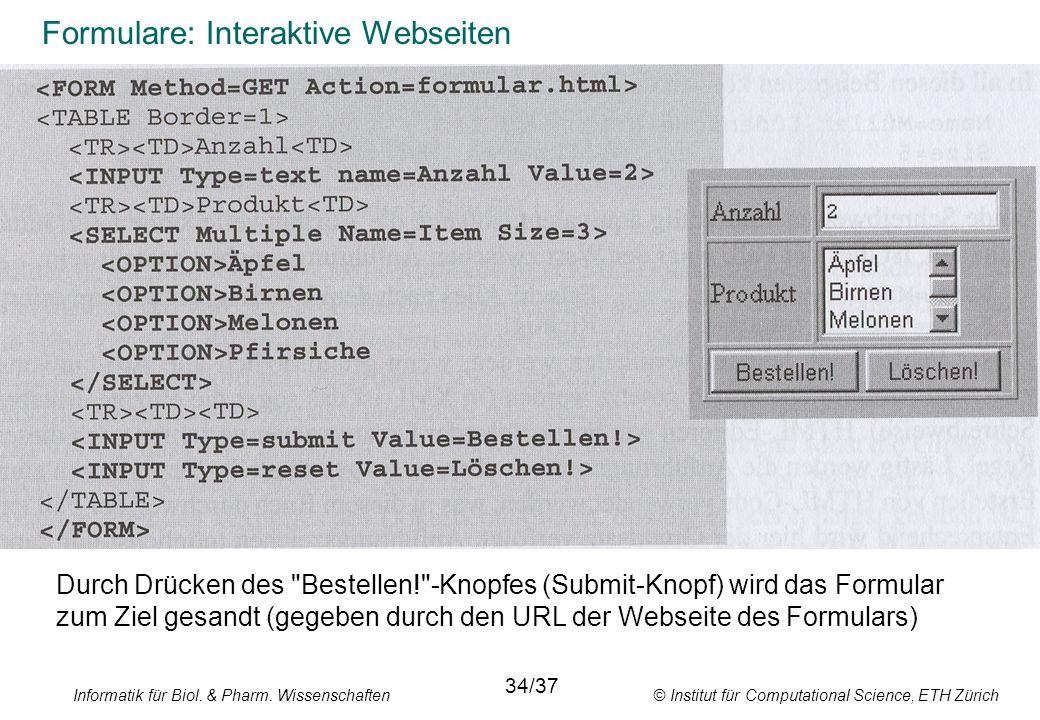 Formulare: Interaktive Webseiten