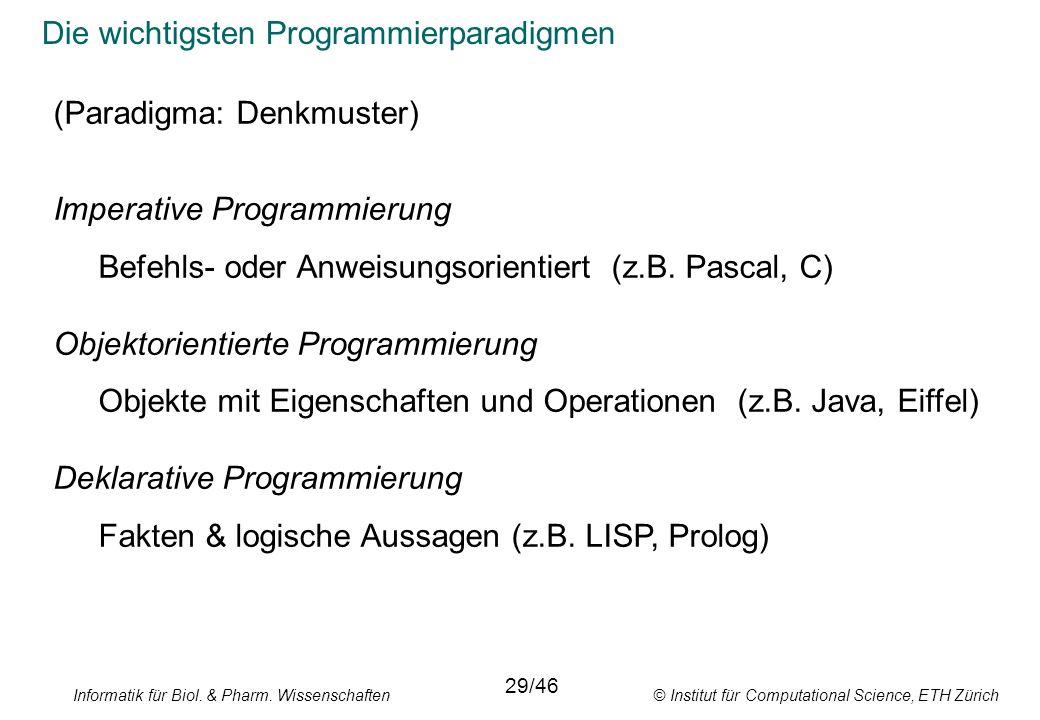 Die wichtigsten Programmierparadigmen