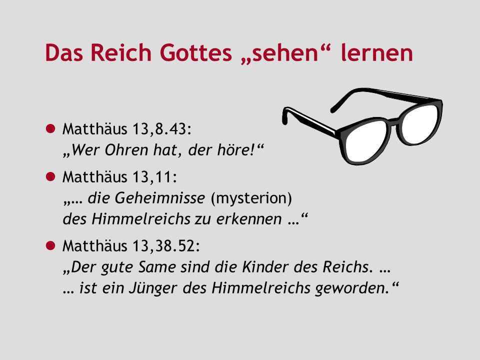 """Das Reich Gottes """"sehen lernen"""