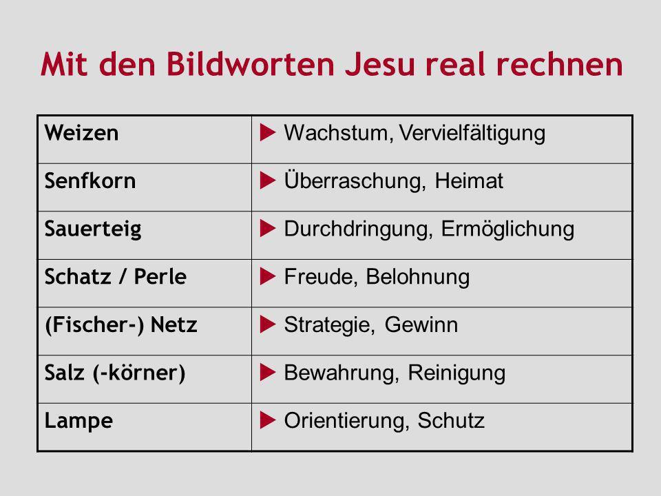 Mit den Bildworten Jesu real rechnen