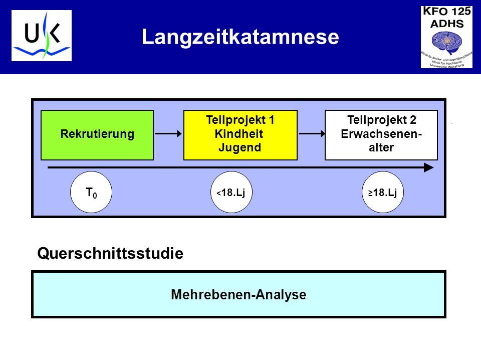 Langzeitkatamnese Querschnittsstudie Mehrebenen-Analyse Rekrutierung