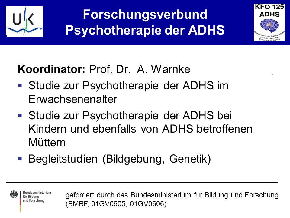 Forschungsverbund Psychotherapie der ADHS