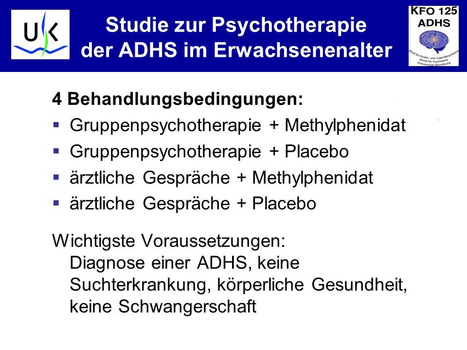 Studie zur Psychotherapie der ADHS im Erwachsenenalter