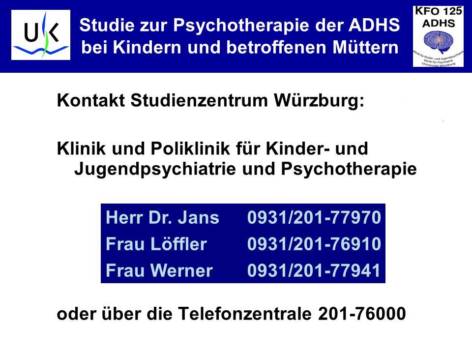 Studie zur Psychotherapie der ADHS bei Kindern und betroffenen Müttern