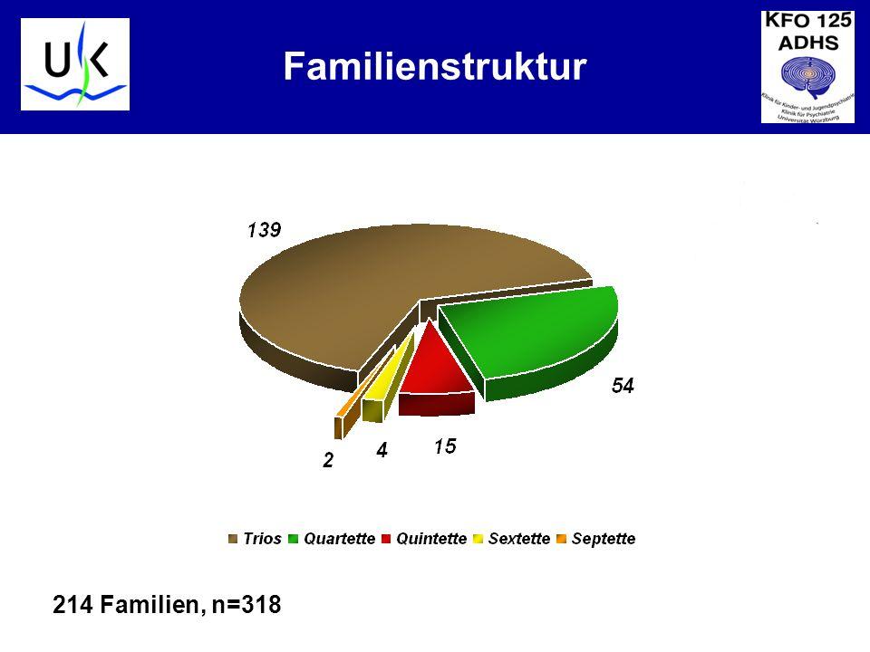 Familienstruktur 214 Familien, n=318