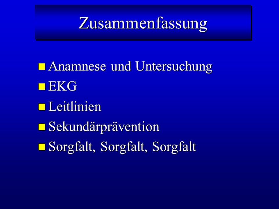 Zusammenfassung Anamnese und Untersuchung EKG Leitlinien