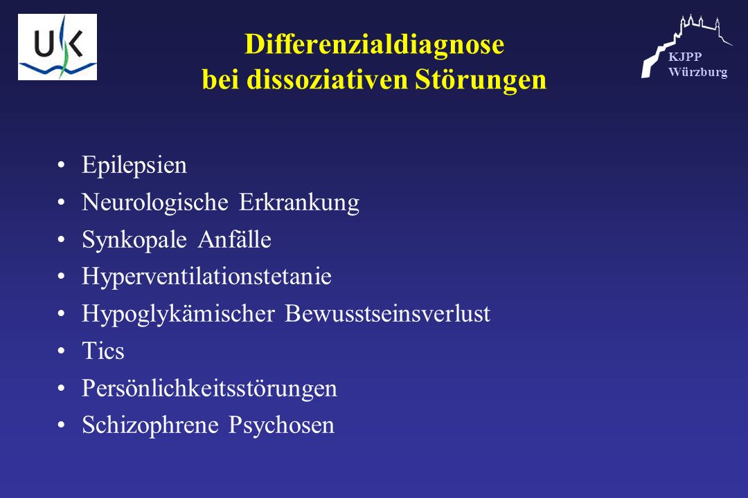Differenzialdiagnose bei dissoziativen Störungen