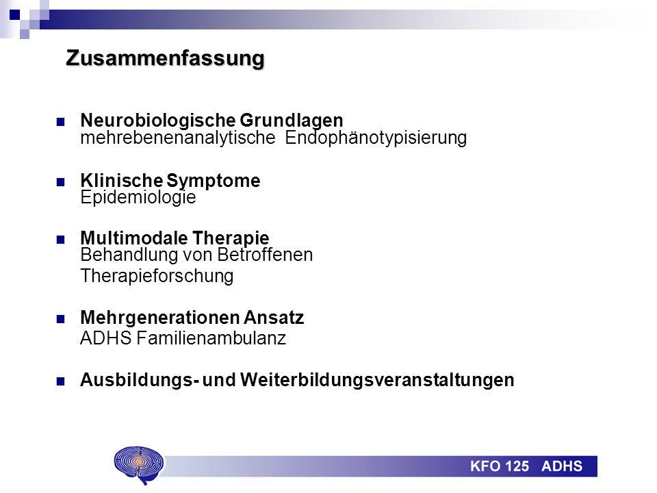 Zusammenfassung Neurobiologische Grundlagen mehrebenenanalytische Endophänotypisierung. Klinische Symptome Epidemiologie.