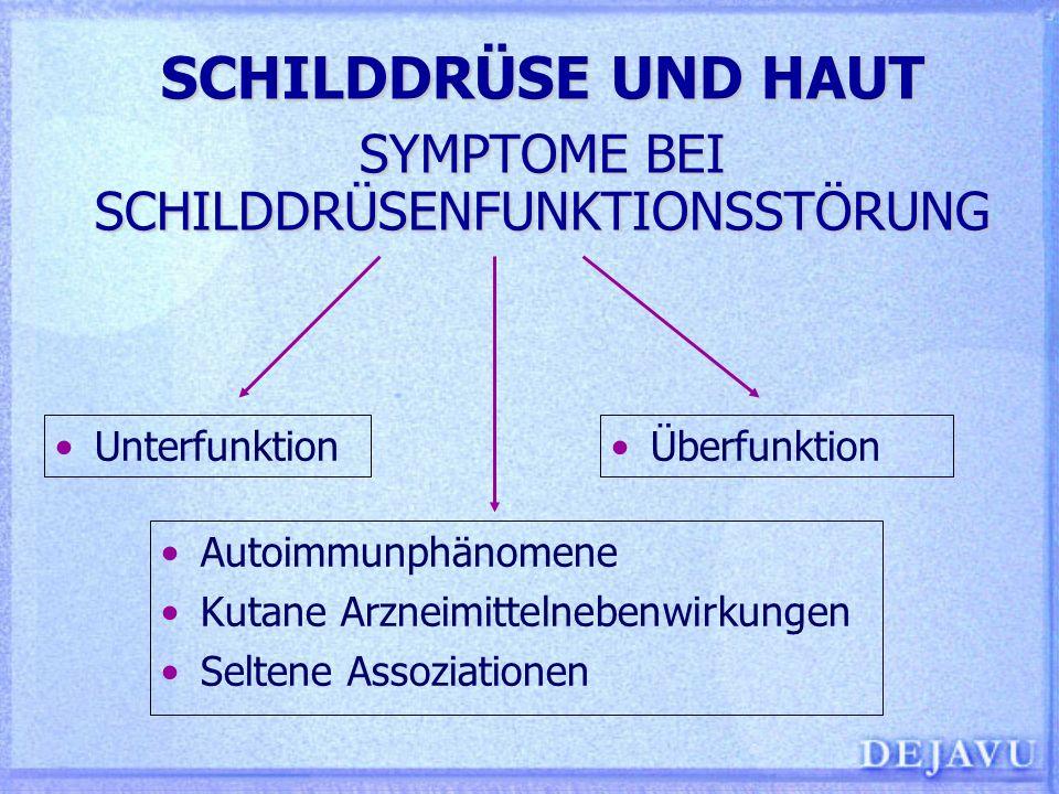 SCHILDDRÜSE UND HAUT SYMPTOME BEI SCHILDDRÜSENFUNKTIONSSTÖRUNG