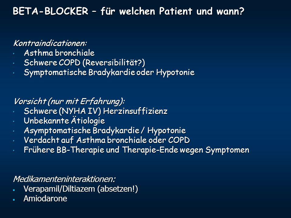 BETA-BLOCKER – für welchen Patient und wann