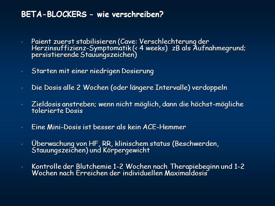 BETA-BLOCKERS - wie verschreiben