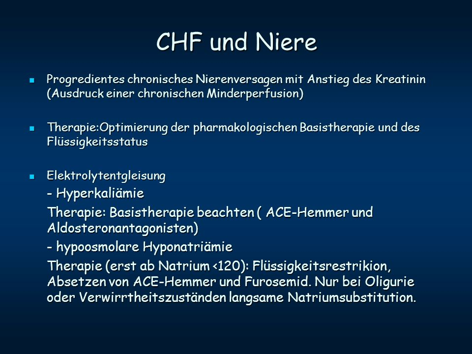CHF und Niere - Hyperkaliämie