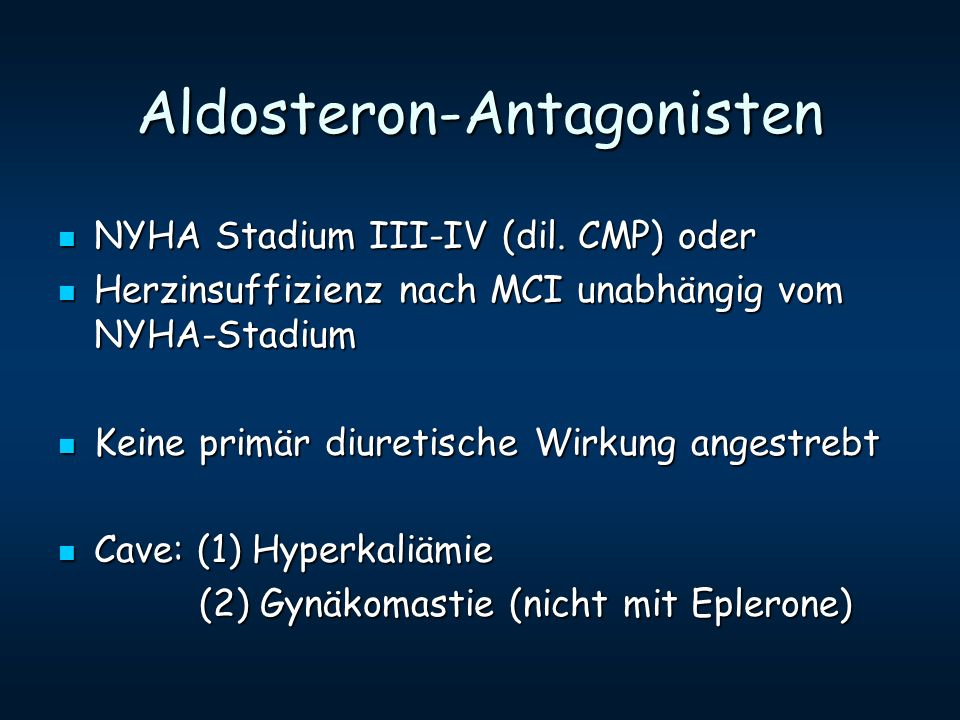 Aldosteron-Antagonisten