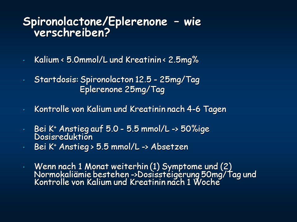 Spironolactone/Eplerenone – wie verschreiben