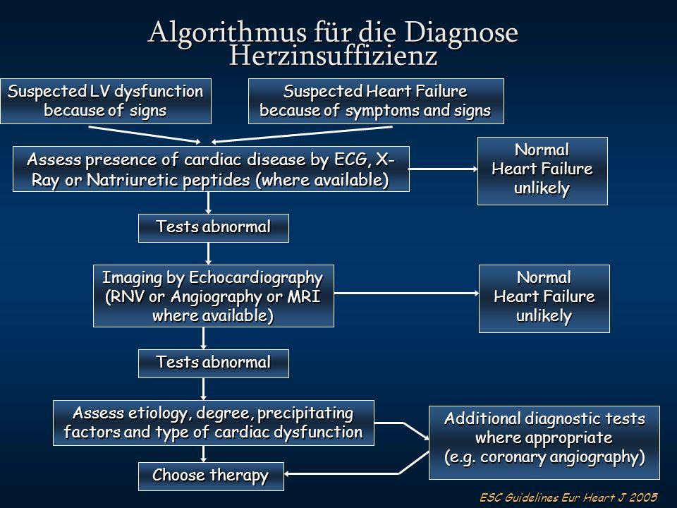 Algorithmus für die Diagnose Herzinsuffizienz