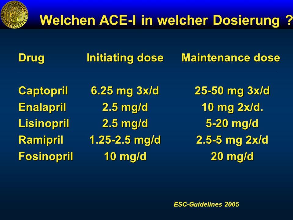 Welchen ACE-I in welcher Dosierung