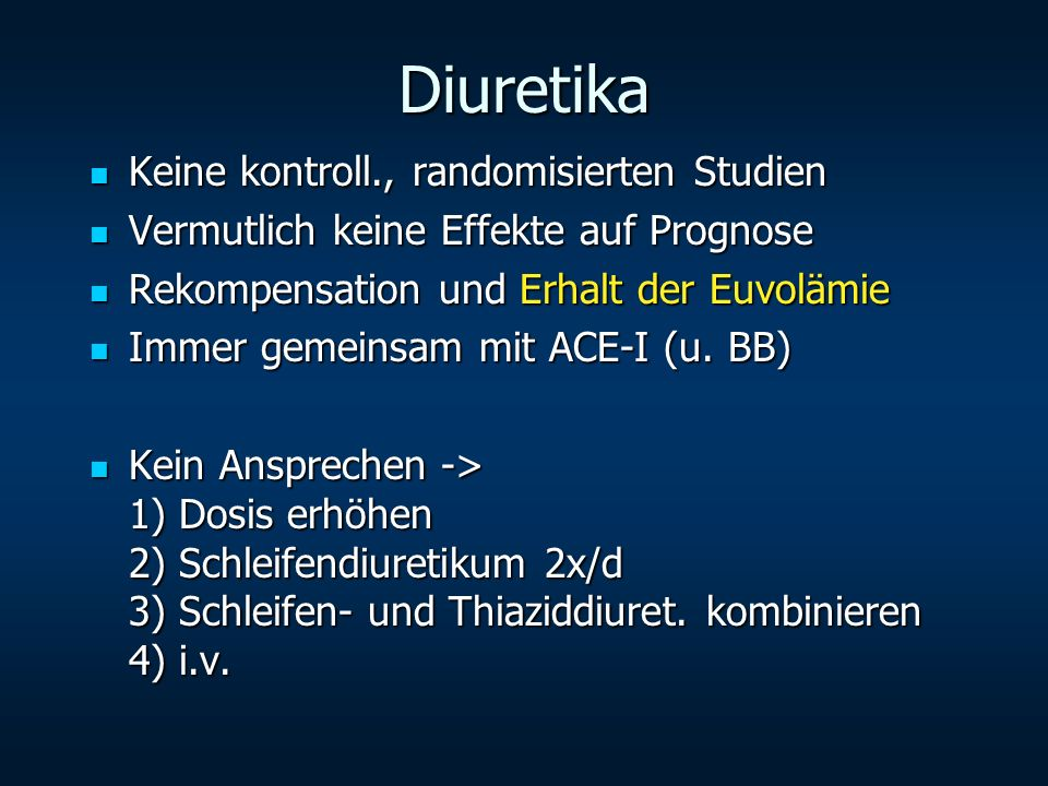 Diuretika Keine kontroll., randomisierten Studien